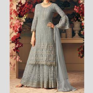 Dresses & Skirts - Grey Palazzo Suit